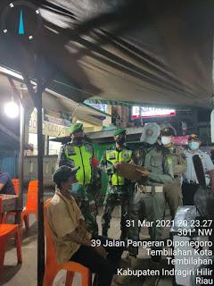 Satpol PP Inhil Bersama Tim Gabungan Melaksanakan Operasi Yustisi Protokes di Malam Hari