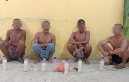 4 Pemuda Minum Tuak Digiring Tim URC Satpol PP Inhil