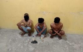Lagi dan Lagi, Tim URC Satpol PP Inhil Amankan 3 Orang Pemuda yang Sedang Konsumsi Tuak